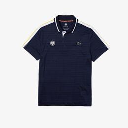 『ROLAND GARROS』 ショルダーラインドライポロシャツ ポロシャツ黒