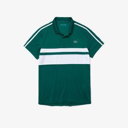 パネルボーダーテニスポロシャツ ポロシャツ緑