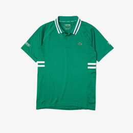 「ノバク・ジョコビッチ」サイドボーダーポロシャツ ポロシャツ緑